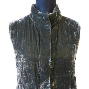 Eileen Fisher Velvet Zip Up Vest